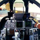 A D változat pilótájának műszerfala...